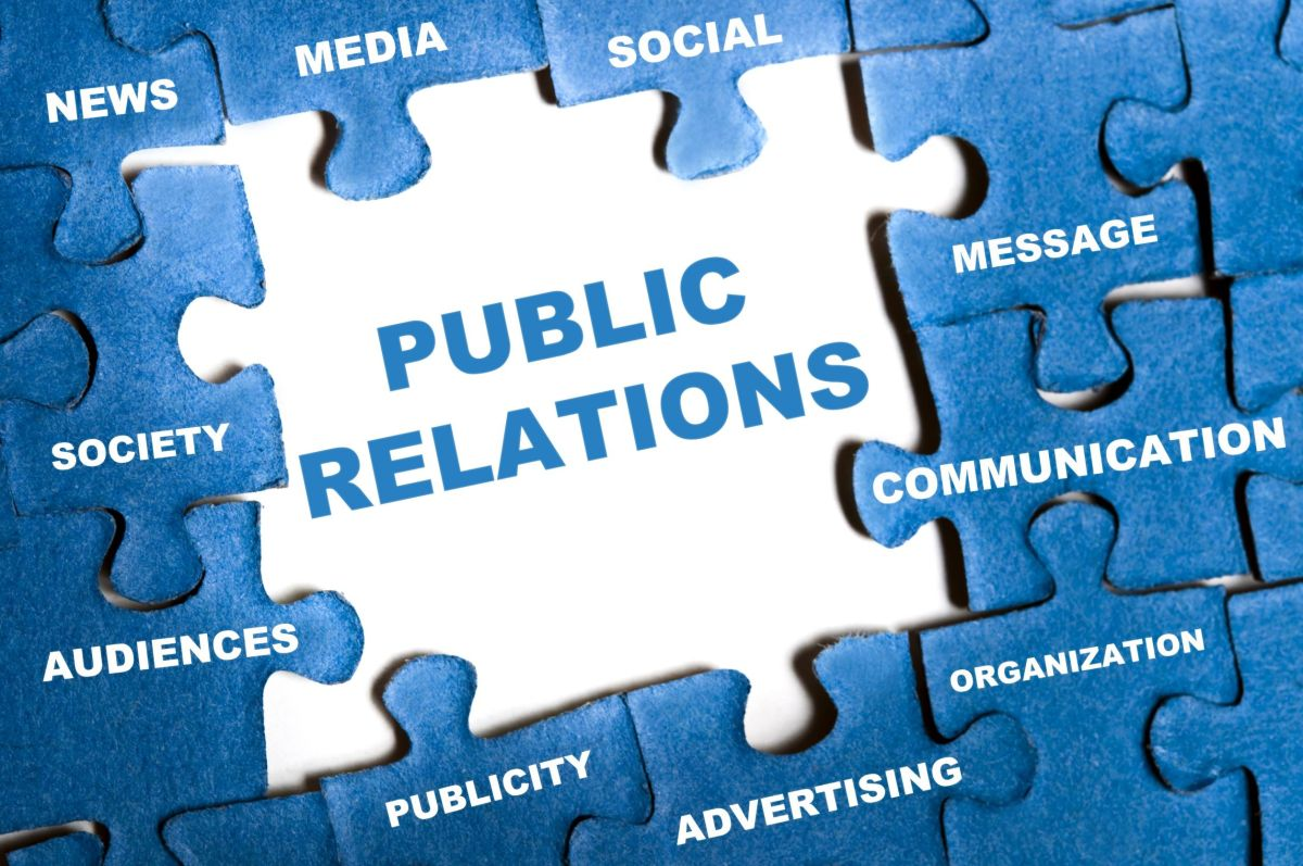 9628786 - public relations blue puzzle pieces assembled